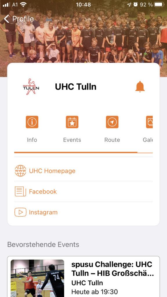 UHC Tulln in der Cities App